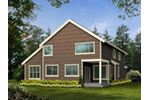 Victorian House Plan Rear Photo 04 - Lynnbrook Shingle Style Home 071D-0101 | House Plans and More