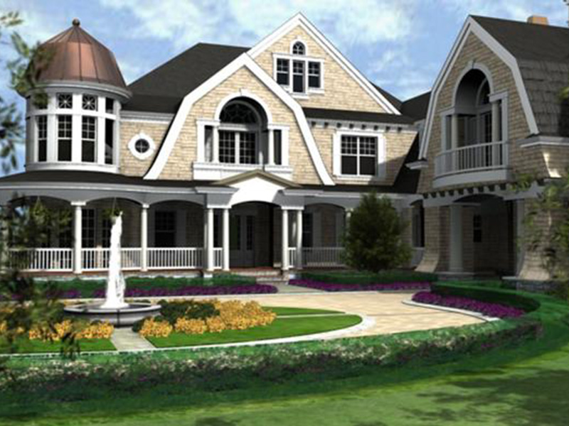 Traditional House Plan Front Image - Horton Manor Luxury Home 071S-0001 | House Plans and More