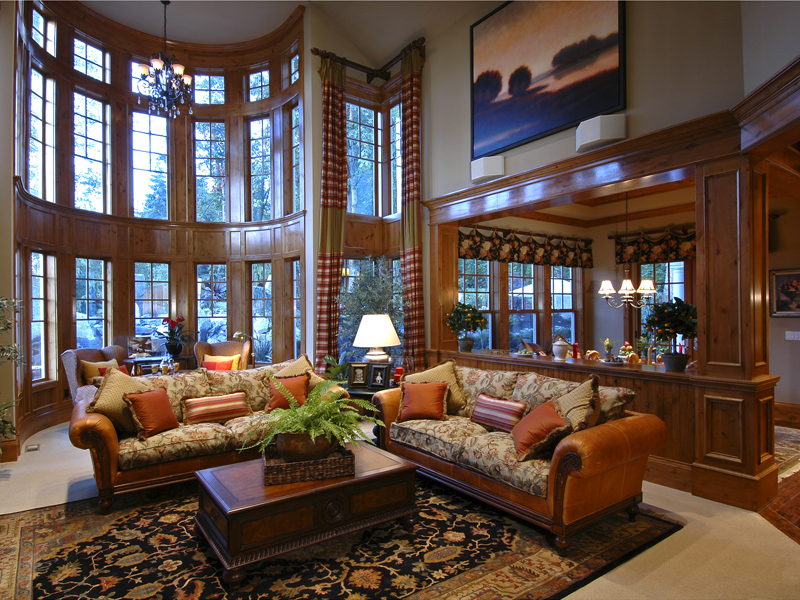 Traditional House Plan Living Room Photo 01 - Horton Manor Luxury Home 071S-0001 | House Plans and More
