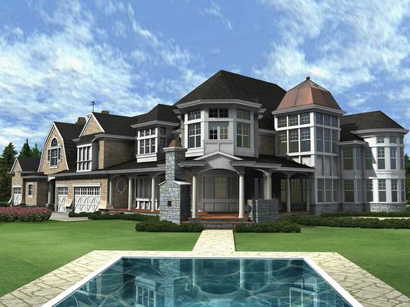 Traditional House Plan Color Image of House - Horton Manor Luxury Home 071S-0001 | House Plans and More