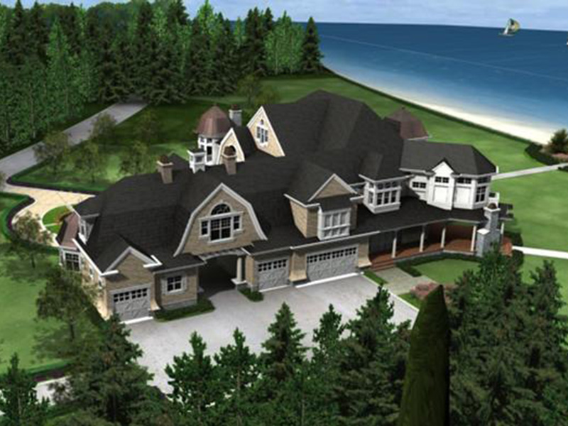 Traditional House Plan Side View Photo - Horton Manor Luxury Home 071S-0001 | House Plans and More