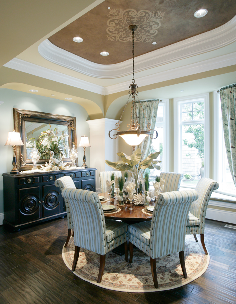 Shingle House Plan Dining Room Photo 01 - Parktowne Luxury Home 071S-0002 | House Plans and More