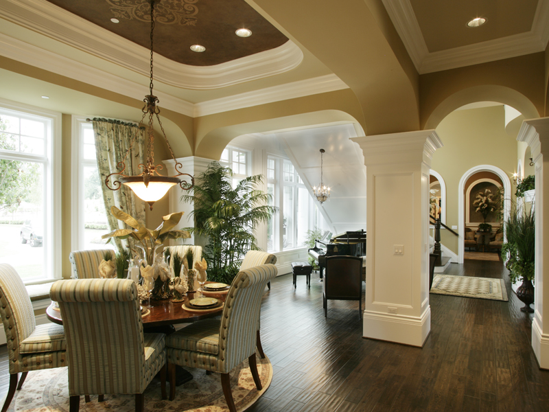 Shingle House Plan Dining Room Photo 02 - Parktowne Luxury Home 071S-0002 | House Plans and More