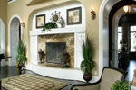 Shingle House Plan Fireplace Photo 01 - Parktowne Luxury Home 071S-0002 | House Plans and More