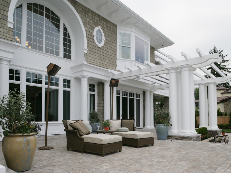 Shingle House Plan Outdoor Living Photo 02 - Parktowne Luxury Home 071S-0002 | House Plans and More