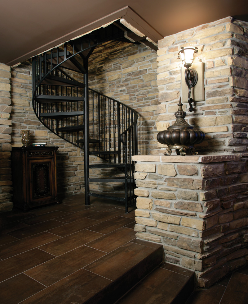 Shingle House Plan Stairs Photo 01 - Parktowne Luxury Home 071S-0002 | House Plans and More