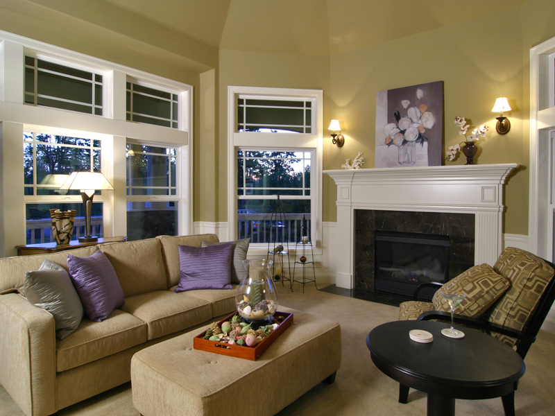 Victorian House Plan Living Room Photo 01 - Hailey Spring Craftsman Home 071S-0006 | House Plans and More