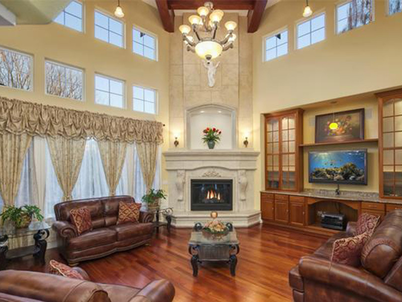 Shingle House Plan Family Room Photo 02 - Geyer Victorian Home 071S-0007 | House Plans and More
