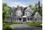 European House Plan Front Image - Geyer Victorian Home 071S-0007 | House Plans and More