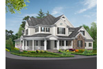 Shingle House Plan Front Image - Geyer Victorian Home 071S-0007 | House Plans and More