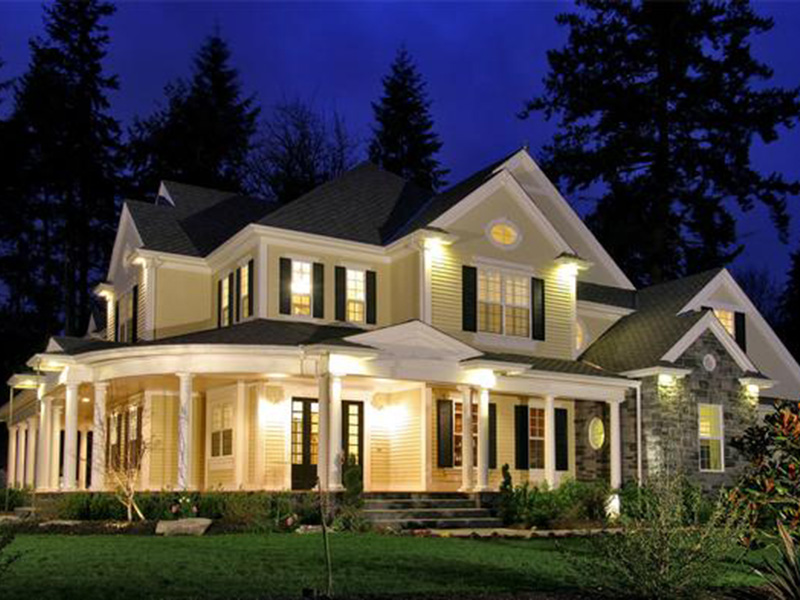 European House Plan Front Night Photo 01 - Geyer Victorian Home 071S-0007 | House Plans and More