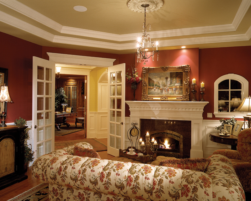 Shingle House Plan Living Room Photo 01 - Geyer Victorian Home 071S-0007 | House Plans and More