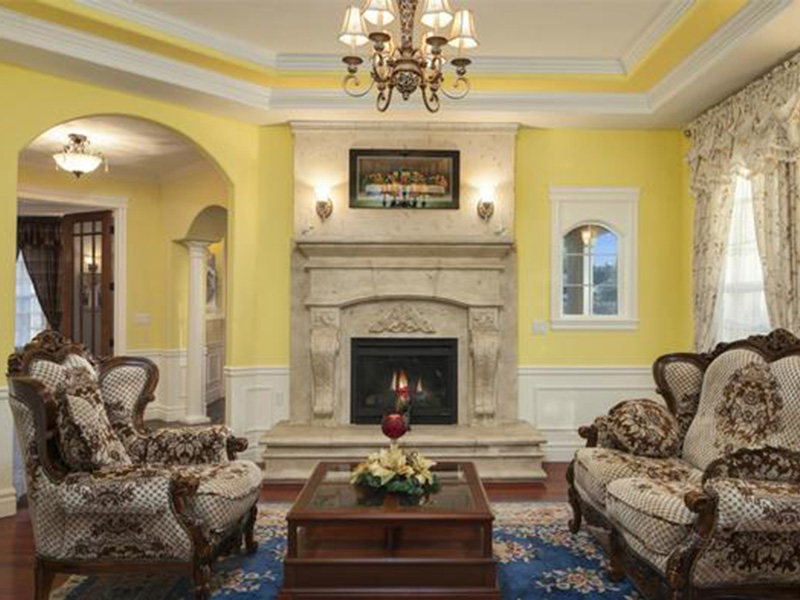 Shingle House Plan Living Room Photo 02 - Geyer Victorian Home 071S-0007 | House Plans and More