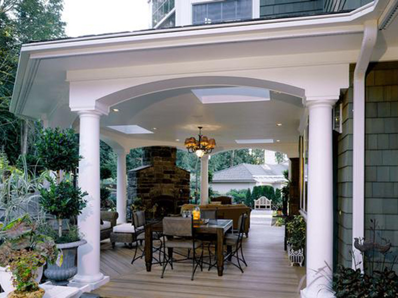 Shingle House Plan Outdoor Living Photo 01 - Geyer Victorian Home 071S-0007 | House Plans and More