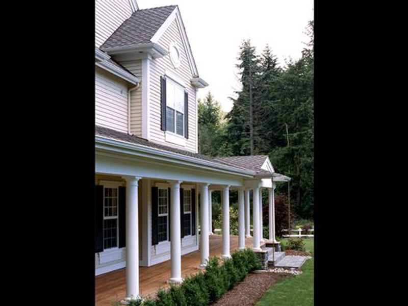 Shingle House Plan Porch 04 - Geyer Victorian Home 071S-0007 | House Plans and More