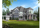 Shingle House Plan Color Image of House - Geyer Victorian Home 071S-0007 | House Plans and More