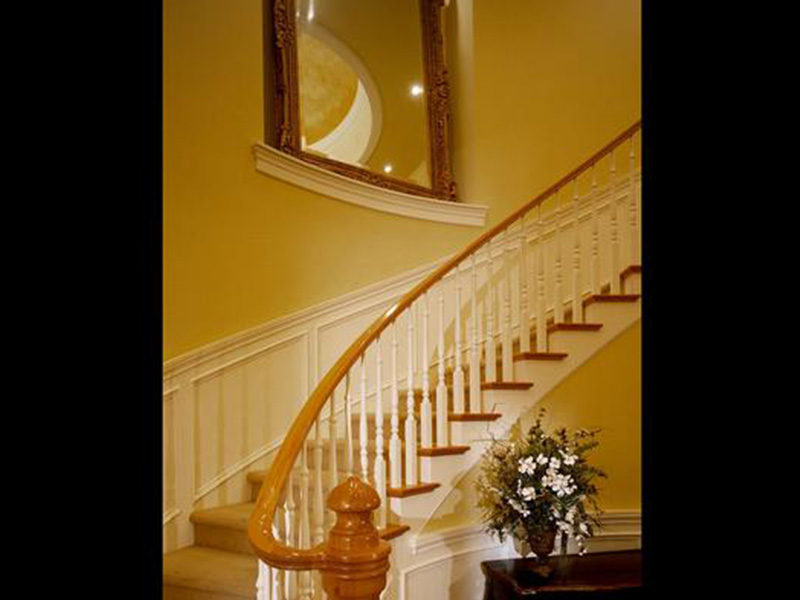 Shingle House Plan Stairs Photo - Geyer Victorian Home 071S-0007 | House Plans and More