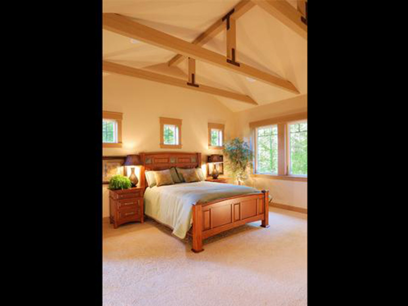 Southern House Plan Bedroom Photo 01 - Mozart Point Craftsman Home 071S-0011 | House Plans and More