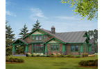 Southern House Plan Rear Photo 03 - Mozart Point Craftsman Home 071S-0011 | House Plans and More