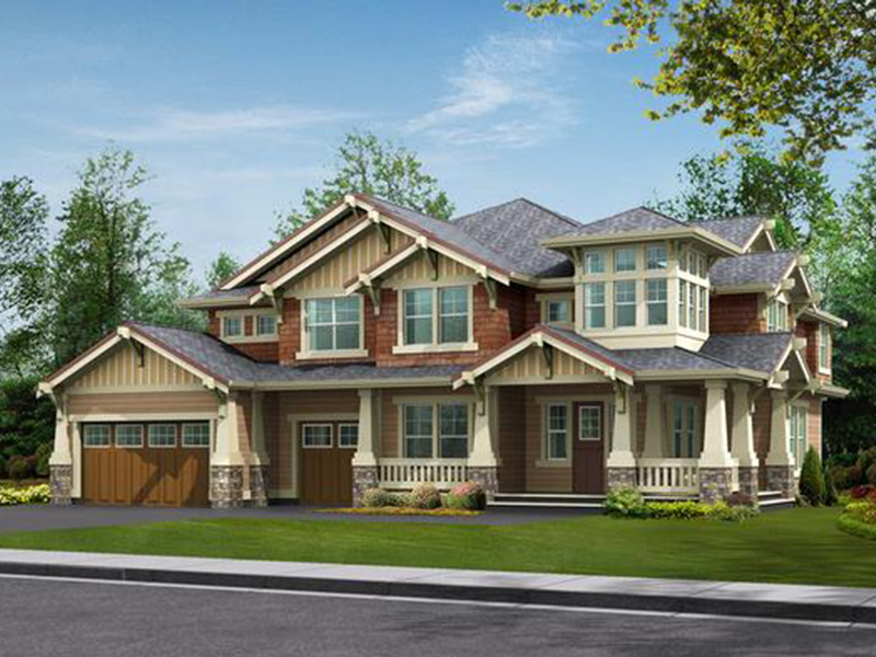 Craftsman House Plan Front Image - Longhorn Creek Rustic Home 071S-0012 | House Plans and More