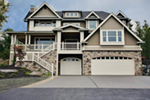 Multi-Level Craftsman Style House With Raised Porch