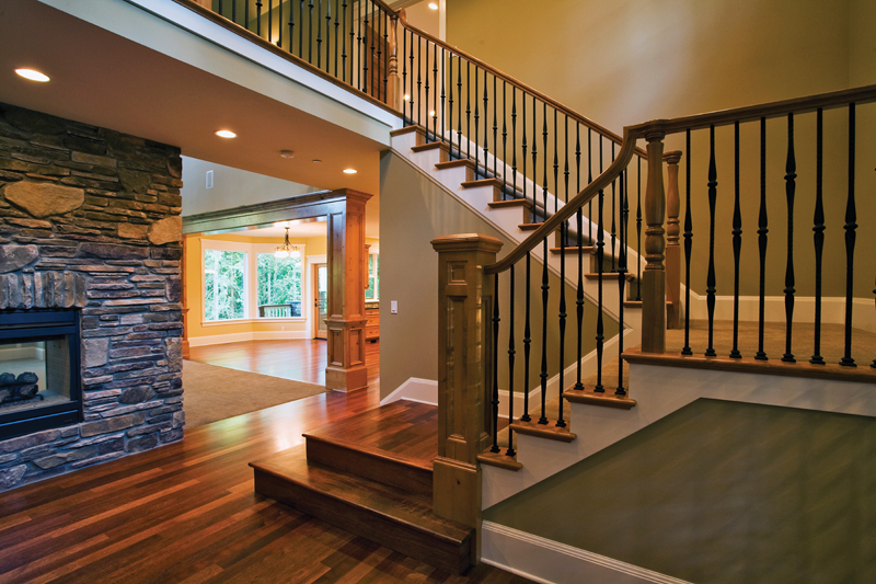 Arts & Crafts House Plan Stairs Photo 02 - Ackerman Place Craftsman Home 071S-0019 | House Plans and More