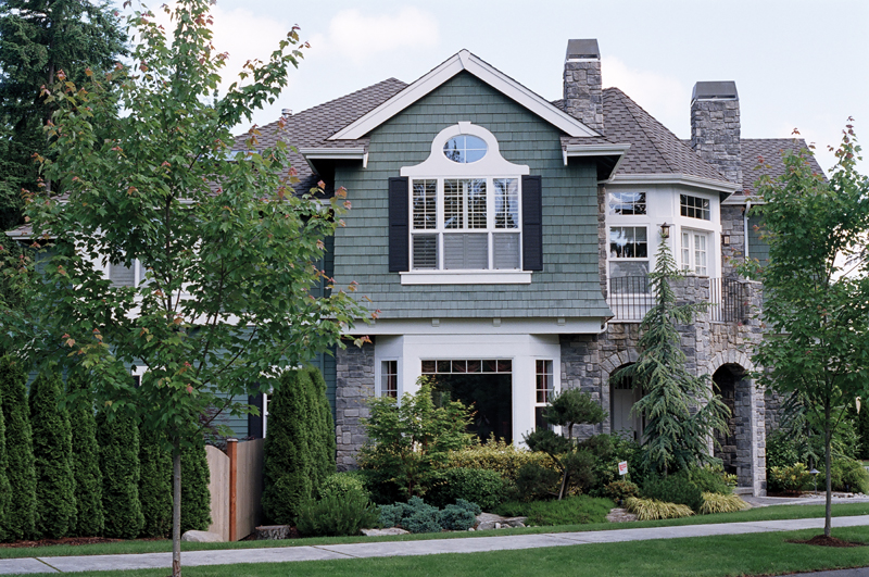 Traditional House Plan Side View Photo 01 - Anaconda Arts & Crafts Home 071S-0022 | House Plans and More