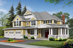 Traditional House Plan Front Image - Canterbury Farms Craftsman Home 071S-0023 | House Plans and More