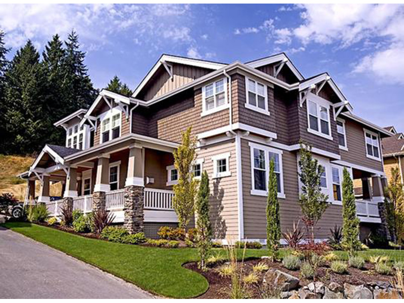 Contemporary House Plan Front Photo 01 - Alva Luxury Craftsman Home 071S-0024 | House Plans and More