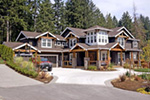 Contemporary House Plan Front Photo 02 - Alva Luxury Craftsman Home 071S-0024 | House Plans and More