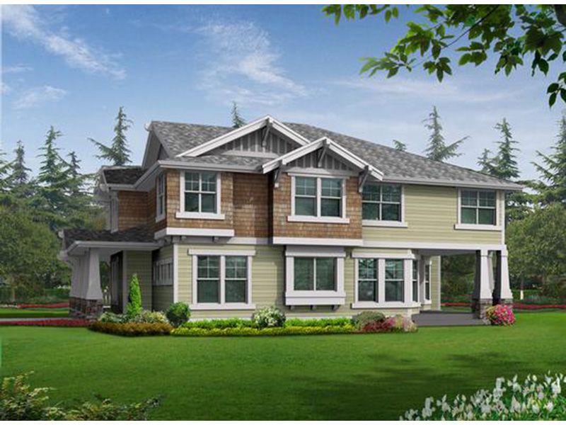 Contemporary House Plan Rear Photo 01 - Alva Luxury Craftsman Home 071S-0024 | House Plans and More