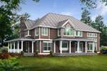 Arts & Crafts House Plan Rear Photo 01 - Shelley Place Country Farmhouse 071S-0030 | House Plans and More