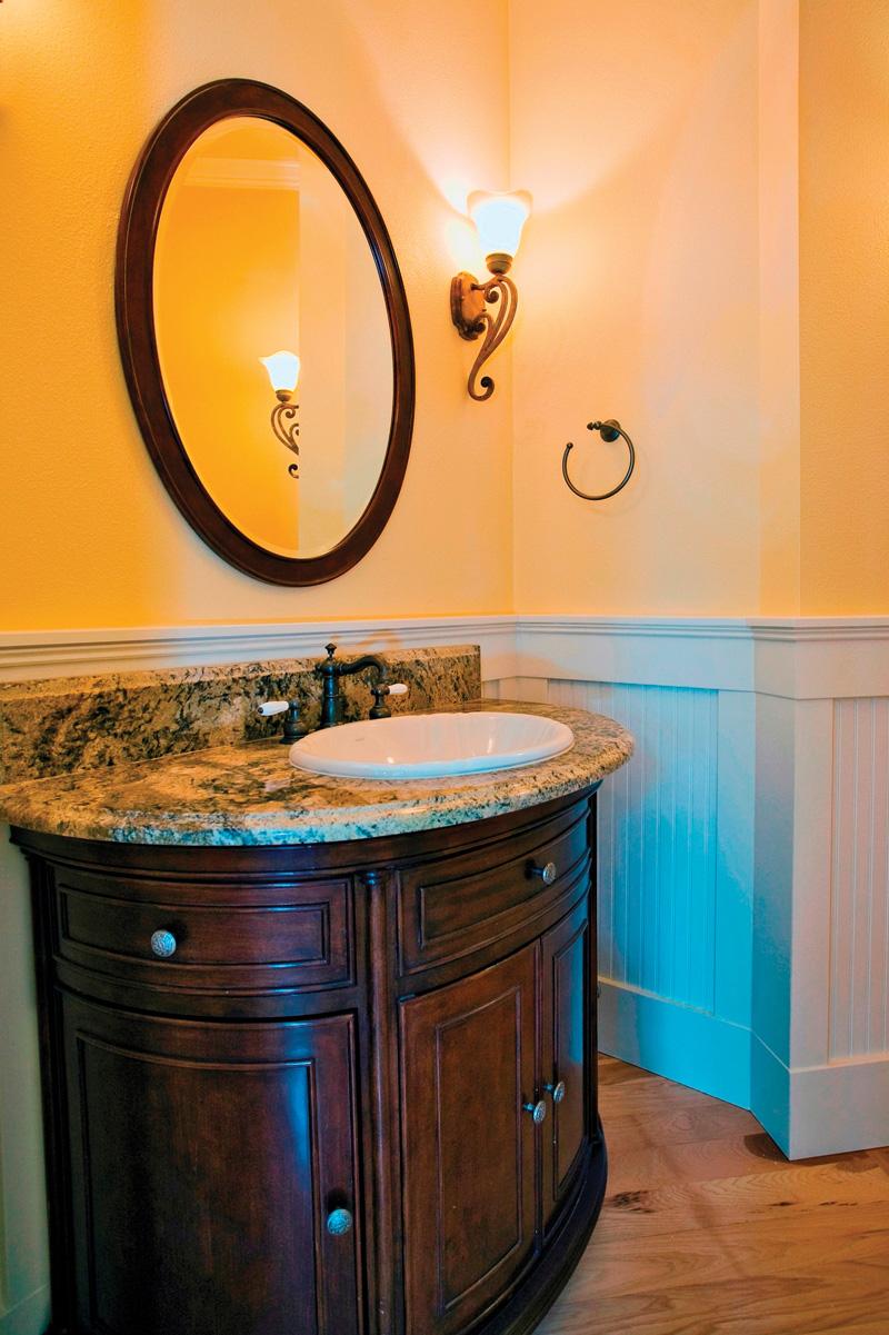 Luxury House Plan Bathroom Photo 01 - Lydelle Luxury Craftsman Home  | Luxury Craftsman Home Designs