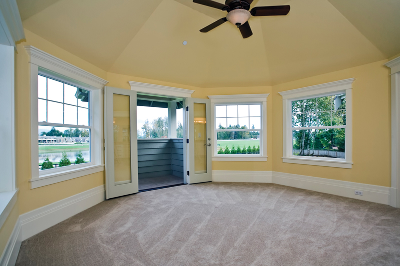 Luxury House Plan Bedroom Photo 01 - Lydelle Luxury Craftsman Home  | Luxury Craftsman Home Designs