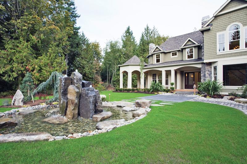 Luxury House Plan Entry Photo 02 - Lydelle Luxury Craftsman Home  | Luxury Craftsman Home Designs