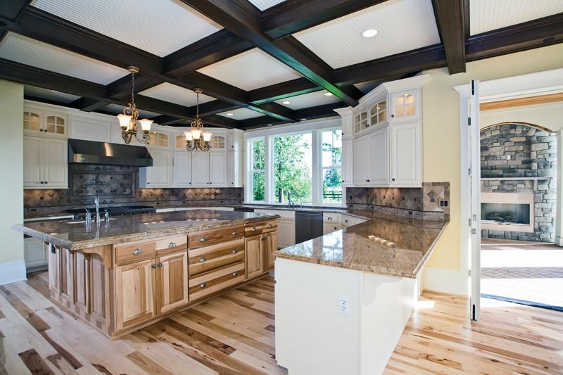 Luxury House Plan Kitchen Photo 04 - Lydelle Luxury Craftsman Home  | Luxury Craftsman Home Designs