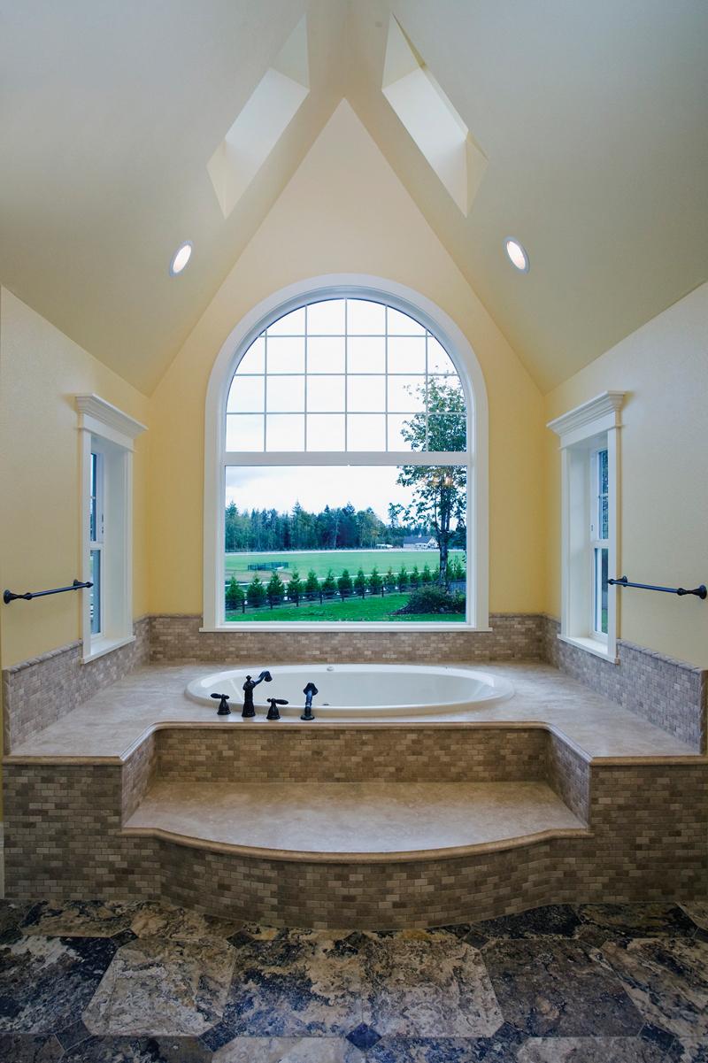Luxury House Plan Master Bathroom Photo 02 - Lydelle Luxury Craftsman Home  | Luxury Craftsman Home Designs