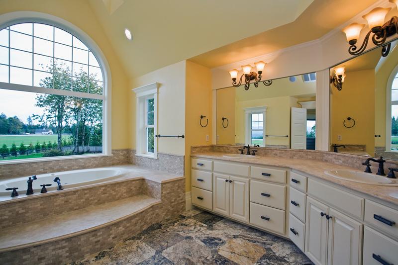 Luxury House Plan Master Bathroom Photo 03 - Lydelle Luxury Craftsman Home  | Luxury Craftsman Home Designs