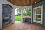 Luxury House Plan Outdoor Living Photo 01 - Lydelle Luxury Craftsman Home  | Luxury Craftsman Home Designs