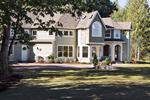 Luxury House Plan Side View Photo - Lydelle Luxury Craftsman Home  | Luxury Craftsman Home Designs