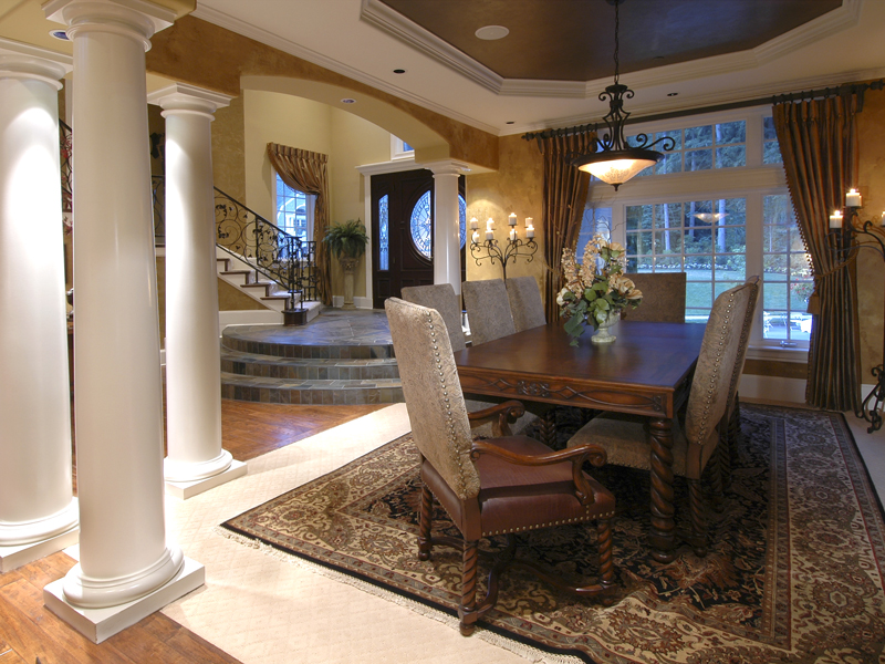 Traditional House Plan Dining Room Photo 01 - Emerald Ridge Luxury Home 071S-0051 | House Plans and More