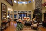 European House Plan Family Room Photo 02 - Emerald Ridge Luxury Home 071S-0051 | House Plans and More