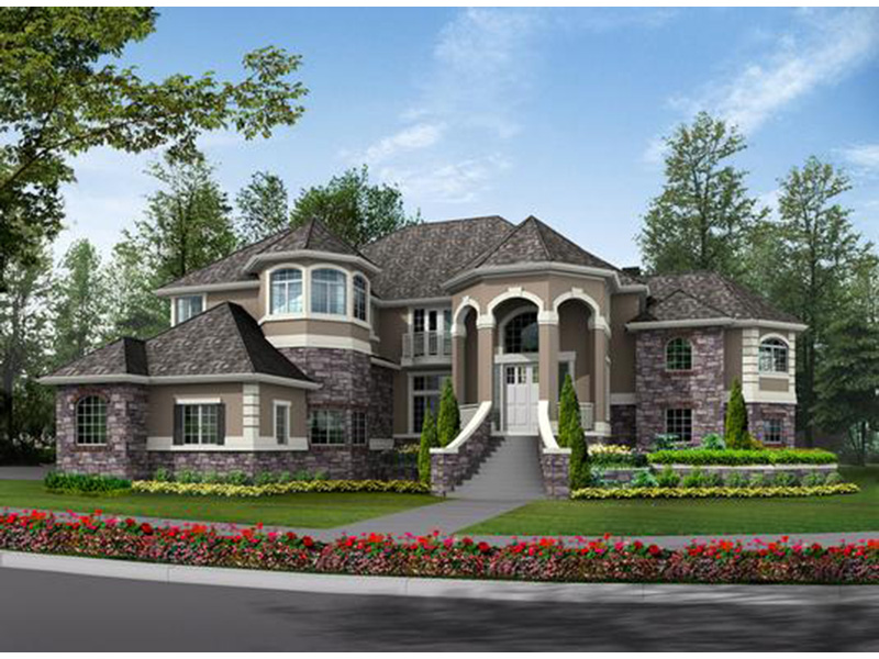 Traditional House Plan Front Photo 01 - Emerald Ridge Luxury Home 071S-0051 | House Plans and More