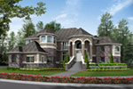 European House Plan Front Photo 01 - Emerald Ridge Luxury Home 071S-0051 | House Plans and More