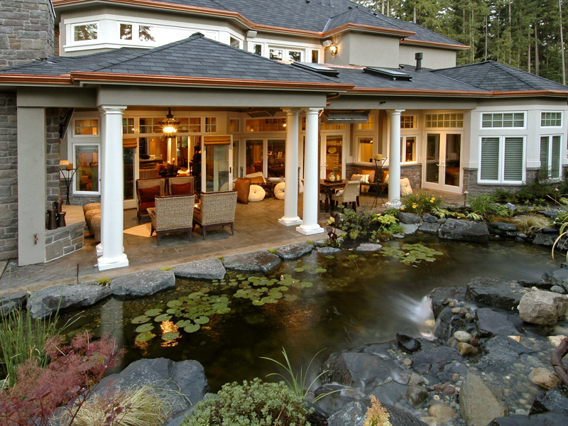 Traditional House Plan Outdoor Living Photo 01 - Emerald Ridge Luxury Home 071S-0051 | House Plans and More