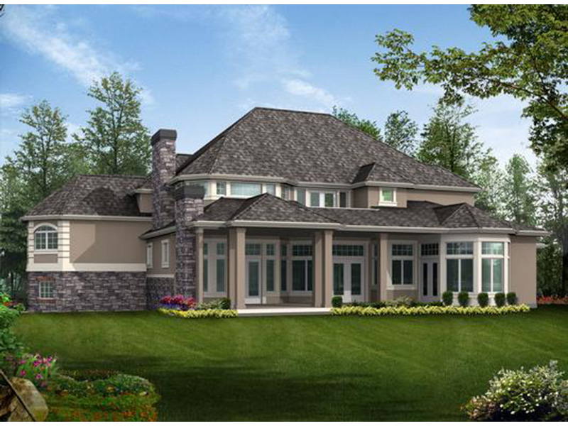European House Plan Rear Photo 01 - Emerald Ridge Luxury Home 071S-0051 | House Plans and More