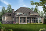 Traditional House Plan Rear Photo 01 - Emerald Ridge Luxury Home 071S-0051 | House Plans and More
