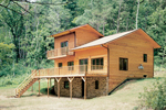 Rustic Multi-level House has Large Outdoor Living Areas