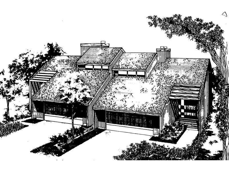 072D-0144-front-main-8 Duplex Lake Home Floor Plans on 1000 sq ft, modern 2 story, 1920s luxury apartment, 900 sq ft, one story garage, barn style, 2 bedroom two bath, for 24x60,