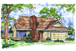 House Plan Front of Home 072D-0156
